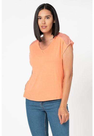 b.young Rachel V-nyakú póló csipkeszegéllyel női