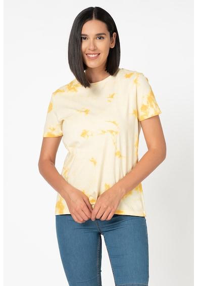 b.young Saira kerek nyakú póló batikolt mintával női