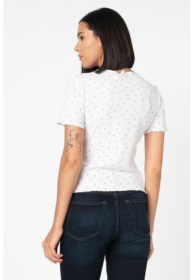 b.young Sacha texturált póló virágmintával női