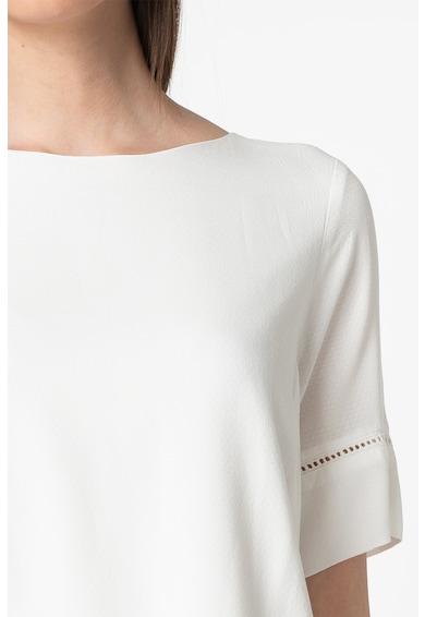 ICHI Bluza cu maneci scurte si insertii crosetate Femei