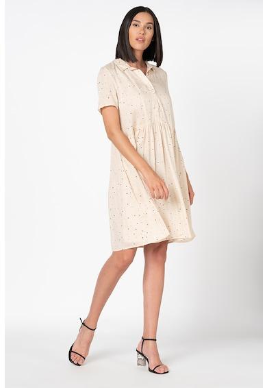ICHI Bella laza fazonú pöttyös ruha női
