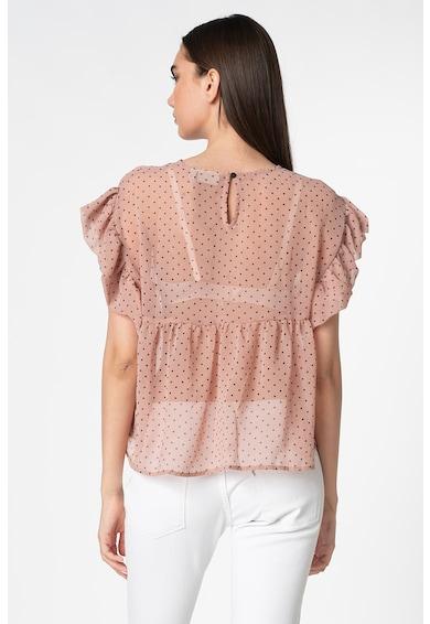 ICHI Bluza transparenta cu buline Femei