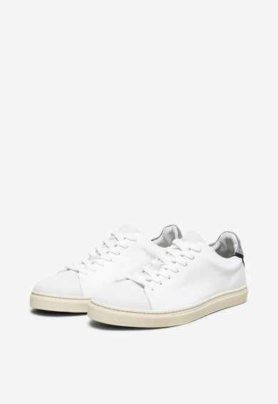 Selected Homme Pantofi sport din piele cu insertii din piele intoarsa Barbati