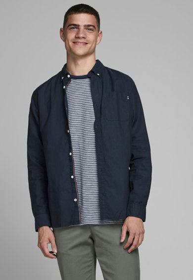 Jack&Jones Jack & Jones, Camasa regular fit cu guler fixat cu nasturi Barbati