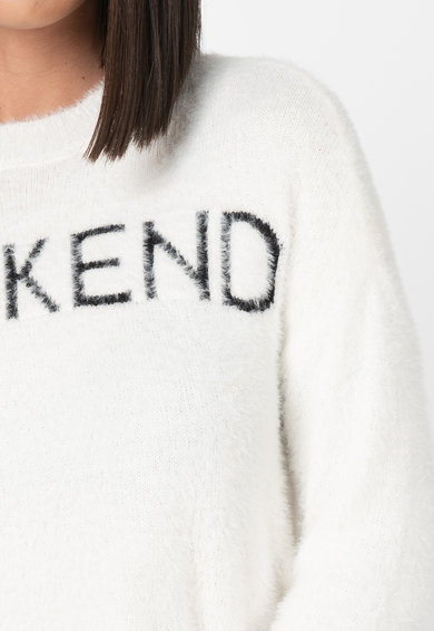 Only Pulover pufos cu model text Weekend Femei