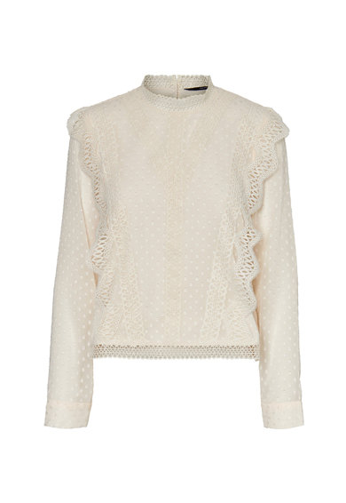 Vero Moda Bluza cu insertii din dantela crosetata Femei