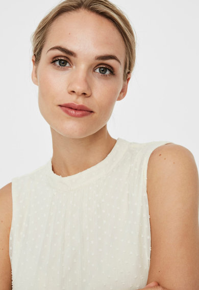 Vero Moda Rochie fara maneci cu strat exterior transparent Femei