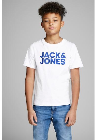 Jack&Jones Tricou cu decolteu la baza gatului si imprimeu logo Baieti