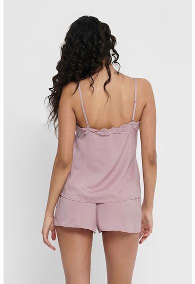 Only Rövid pizsama csipkeszegélyekkel női