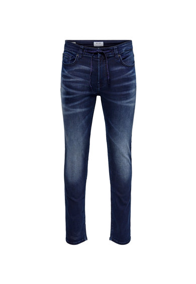 Only & Sons Blugi slim fit cu aspect decolorat Barbati