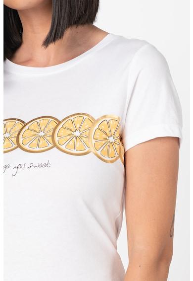 Only Tricou cu decolteu la baza gatului si imprimeu cu fructe Lima Femei