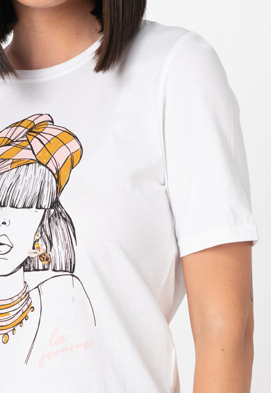 Only Violet mintás organikuspamut póló női