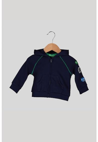 United Colors of Benetton Hanorac cu fermoar si broderie Baieti