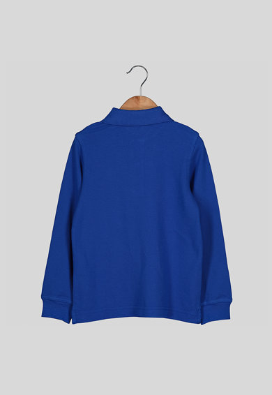 United Colors of Benetton Bluza polo din material pique cu logo brodat discret Baieti