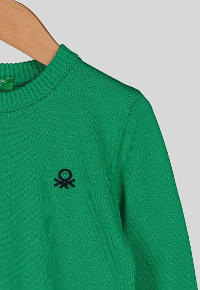 United Colors of Benetton Pulover cu terminatii striate Baieti