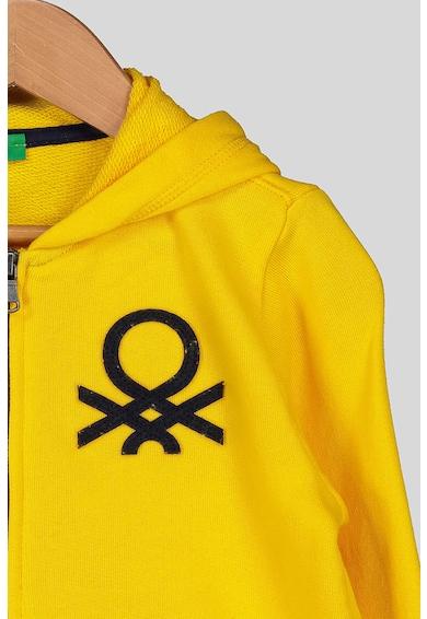 United Colors of Benetton Hanorac cu fermoar si detalii logo Baieti