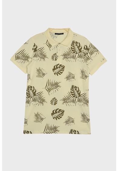 Trendyol Trópusi mintás galléros póló férfi