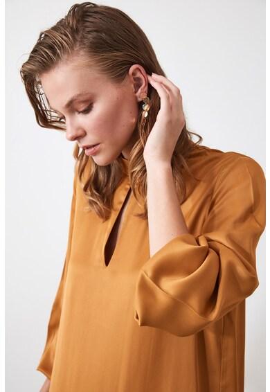 Trendyol Mini szaténruha bővülő fazonú alsó szegéllyel női