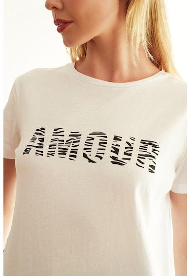 Trendyol Kerek nyakú póló felirattal női