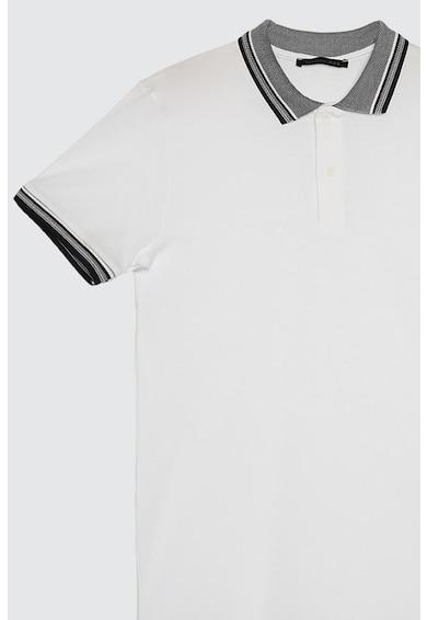 Trendyol Tricou polo de bumbac cu detalii contrastante Barbati