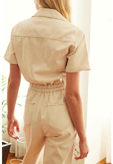 Trendyol Klasszikus gallérú cipzáros farmer overall női