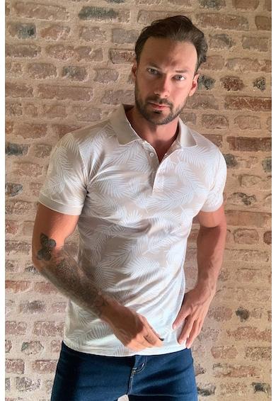 Trendyol Levélmintás galléros póló férfi