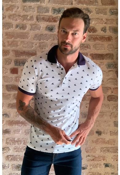 Trendyol Mintás galléros póló férfi