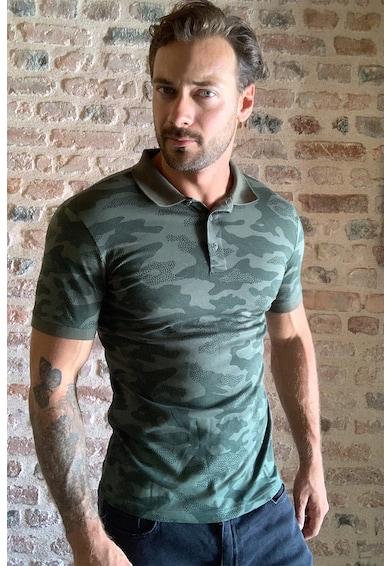 Trendyol Terepmintás galléros póló férfi