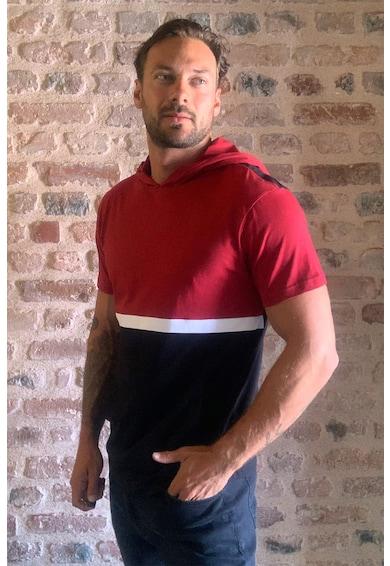 Trendyol Colorblock dizájnos kapucnis póló férfi