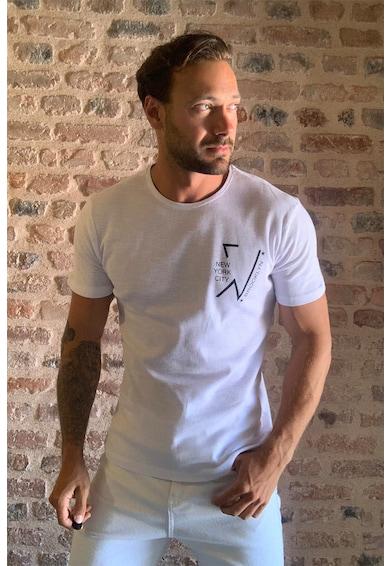 Trendyol Kerek nyakú póló kis felirattal férfi