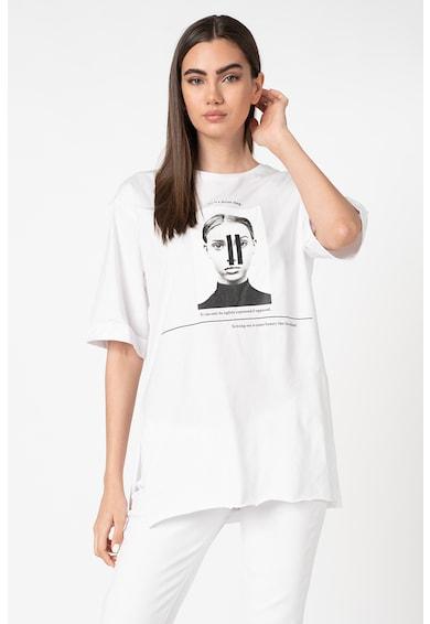 Trendyol Tricou supradimensionat cu imprimeu foto Femei