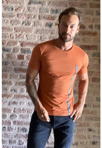 Trendyol Kerek nyakú póló kontrasztos szegéllyel férfi