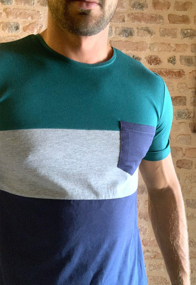 Trendyol Tricou colorblock cu buzunar aplicat Barbati