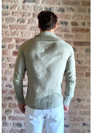 Trendyol Szűk fazonú ing zsebbel a mellrészen C férfi