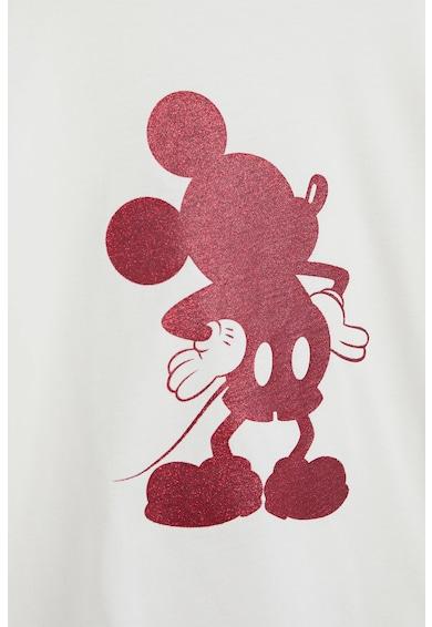 Mango Bluza cu maneci cazute si imprimeu Mickey Mouse Fete
