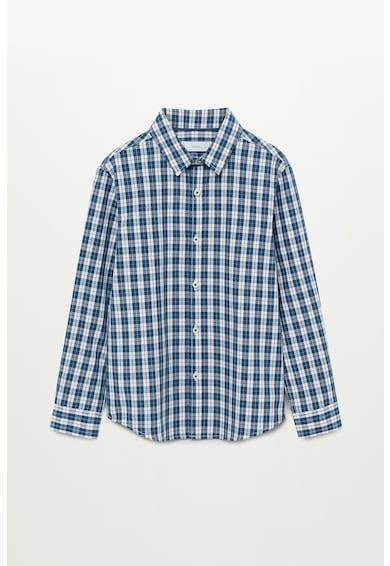 Mango Карирана риза с дълги ръкави Момчета