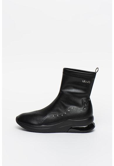 Liu Jo Pantofi sport high-top de piele ecologica, cu strasuri Karlie Femei