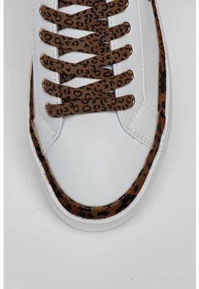 Liu Jo Pantofi sport de piele cu garnituri animal print Silvia Femei