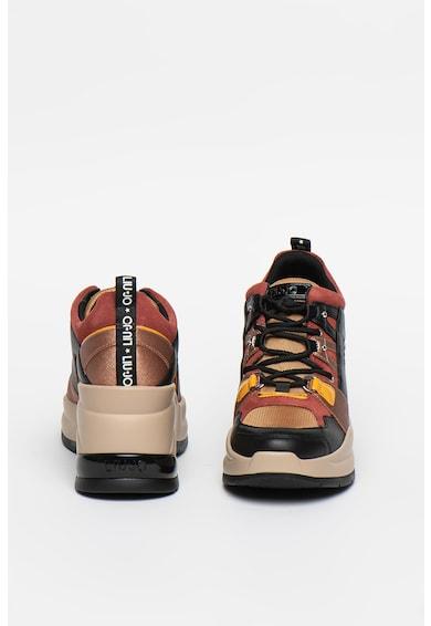 Liu Jo Pantofi sport wedge de piele, cu model colorblock Karlie Revolution Femei
