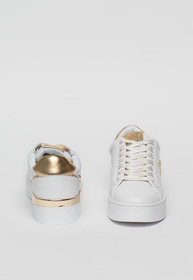 Liu Jo Pantofi sport de piele cu garnituri cu aspect metalizat Silvia Femei