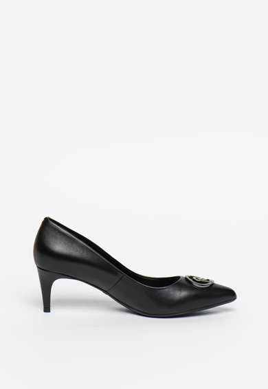 Liu Jo Pantofi de piele cu varf ascutit si logo metalic Katia Femei