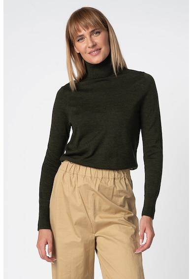 GAP Пуловер от мериносова вълна с поло Жени