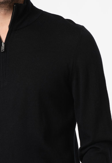 GAP Пуловер от мериносова вълна и цепка с цип Мъже