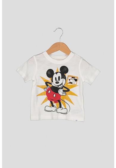 GAP Памучна тениска с щампа на Mickey Mouse Момичета