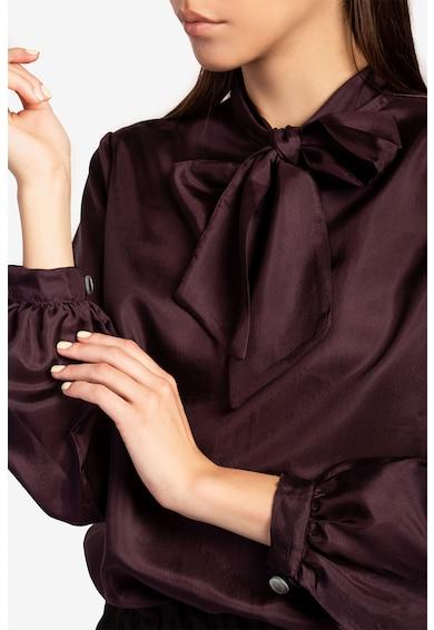 Acob à porter Bluza din matase cu guler cu funda din panglici Femei