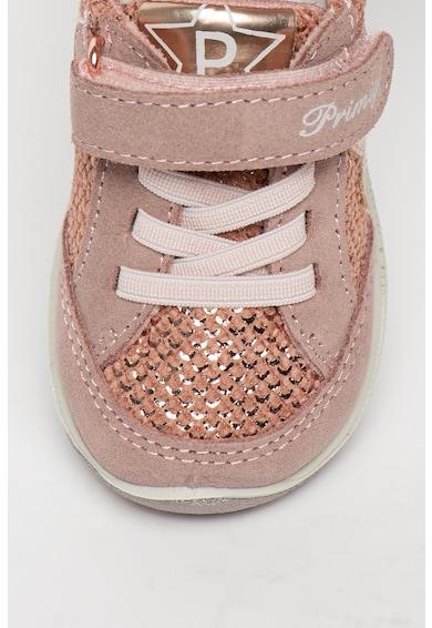 Primigi Pantofi sport de piele intoarsa cu insertii de piele ecologica Fete