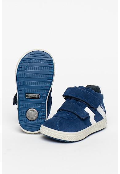 Primigi Pantofi sport de piele intoarsa si piele intoarsa ecologica cu velcro Baieti