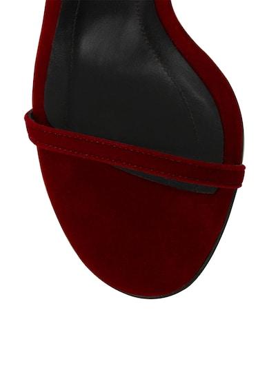 Traces of Heels Sandale de catifea cu bareta pe glezna Femei