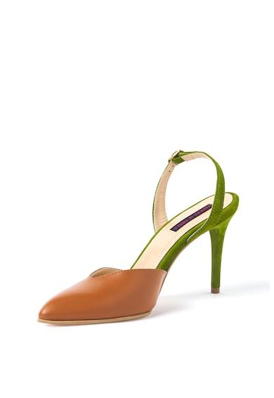 Traces of Heels Pantofi de piele si piele intoarsa, cu varf ascutit Femei