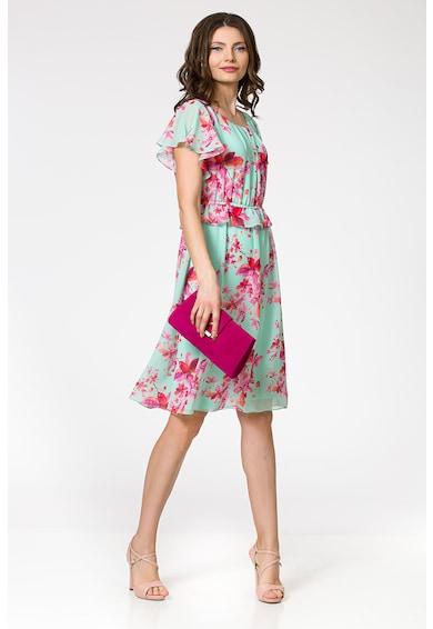 Sense Rochie cu model floral si detaliu peplum Femei